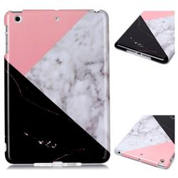 Tricolor Marble Clear Bumper Glossy Rubber Silicone Phone Case for iPad Mini 1 2 3