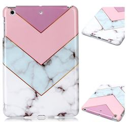 Stitching Pink Marble Clear Bumper Glossy Rubber Silicone Phone Case for iPad Mini 1 2 3