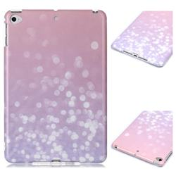 Glitter Pink Marble Clear Bumper Glossy Rubber Silicone Phone Case for iPad Mini 4