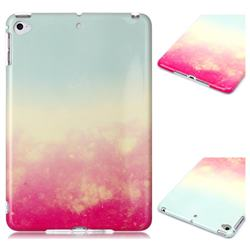 Sunset Glow Marble Clear Bumper Glossy Rubber Silicone Phone Case for iPad Mini 4