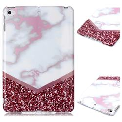 Stitching Rose Marble Clear Bumper Glossy Rubber Silicone Phone Case for iPad Mini 4
