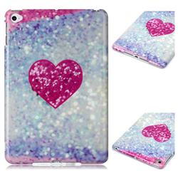 Glitter Rose Heart Marble Clear Bumper Glossy Rubber Silicone Phone Case for iPad Mini 4