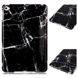 Black Stone Marble Clear Bumper Glossy Rubber Silicone Phone Case for iPad Mini 4