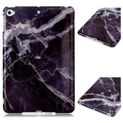 Gray Stone Marble Clear Bumper Glossy Rubber Silicone Phone Case for iPad Mini 4