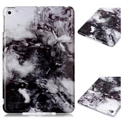 Smoke Ink Painting Marble Clear Bumper Glossy Rubber Silicone Phone Case for iPad Mini 4