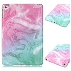 Pink Green Marble Clear Bumper Glossy Rubber Silicone Phone Case for iPad Mini 4
