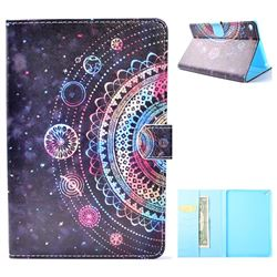 Universe Mandala Flower Folio Flip Stand Leather Wallet Case for iPad Mini 4