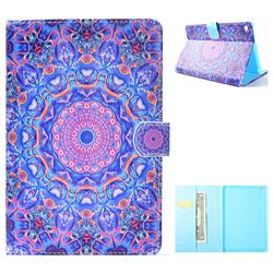 Purple Mandala Flower Folio Flip Stand Leather Wallet Case for iPad Mini 4