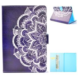 Half Lace Mandala Flower Folio Flip Stand Leather Wallet Case for iPad Mini 4