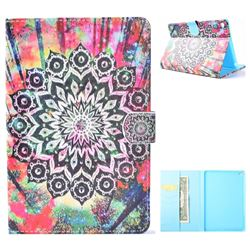 Colorful Mandala Flower Folio Flip Stand Leather Wallet Case for iPad Mini 4