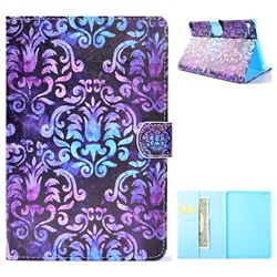 Royal Mandala Flower Folio Flip Stand Leather Wallet Case for iPad Mini 4