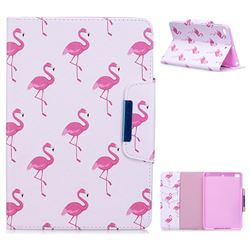 Red Flamingo Folio Flip Stand Leather Wallet Case for iPad Mini 4