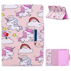 Cloud Unicorn Folio Flip Stand Leather Wallet Case for iPad Mini 4