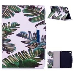 Green Leaves Folio Flip Stand Leather Wallet Case for iPad Mini 4