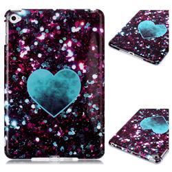 Glitter Green Heart Marble Clear Bumper Glossy Rubber Silicone Phone Case for iPad Mini 5 Mini5