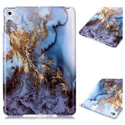 Sea Blue Marble Clear Bumper Glossy Rubber Silicone Phone Case for iPad Mini 5 Mini5