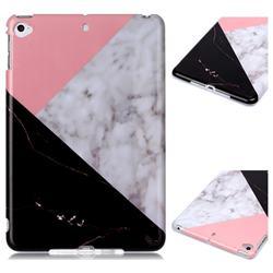 Tricolor Marble Clear Bumper Glossy Rubber Silicone Phone Case for iPad Mini 5 Mini5