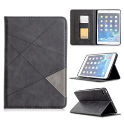 Binfen Color Prismatic Slim Magnetic Sucking Stitching Wallet Flip Cover for iPad Mini 5 Mini5 - Black