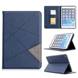 Binfen Color Prismatic Slim Magnetic Sucking Stitching Wallet Flip Cover for iPad Mini 5 Mini5 - Blue