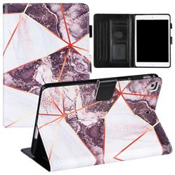 Black and White Stitching Color Marble Leather Flip Cover for Apple iPad Mini 5 Mini5
