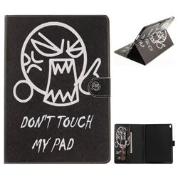 Do Not Touch Me Painting Tablet Leather Wallet Flip Cover for iPad Pro 10.5