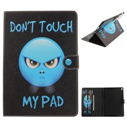 Not Touch My Phone Painting Tablet Leather Wallet Flip Cover for iPad Pro 10.5