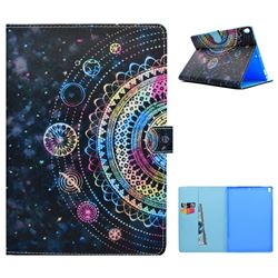 Universe Mandala Flower Folio Flip Stand Leather Wallet Case for iPad Pro 10.5