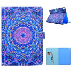 Purple Mandala Flower Folio Flip Stand Leather Wallet Case for iPad Pro 10.5