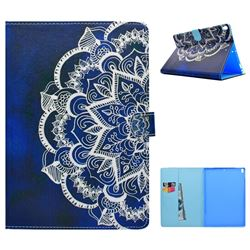 Half Lace Mandala Flower Folio Flip Stand Leather Wallet Case for iPad Pro 10.5