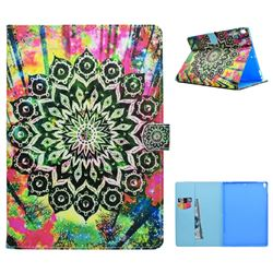 Colorful Mandala Flower Folio Flip Stand Leather Wallet Case for iPad Pro 10.5