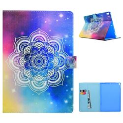 Sky Mandala Flower Folio Flip Stand Leather Wallet Case for iPad Pro 10.5