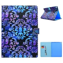 Royal Mandala Flower Folio Flip Stand Leather Wallet Case for iPad Pro 10.5