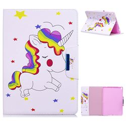 Rainbow Unicorn Folio Flip Stand Leather Wallet Case for iPad Pro 10.5