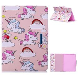 Cloud Unicorn Folio Flip Stand Leather Wallet Case for iPad Pro 10.5