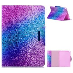 Rainbow Sand Folio Flip Stand Leather Wallet Case for iPad Pro 10.5