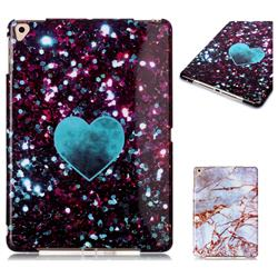 Glitter Green Heart Marble Clear Bumper Glossy Rubber Silicone Phone Case for iPad Pro 9.7 2016 9.7 inch
