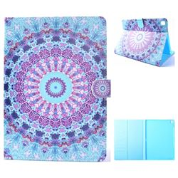 Mint Green Mandala Flower Folio Flip Stand Leather Wallet Case for iPad Pro 9.7 2016 9.7 inch