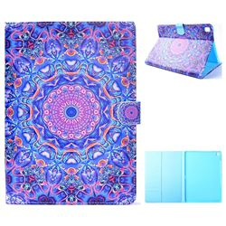 Purple Mandala Flower Folio Flip Stand Leather Wallet Case for iPad Pro 9.7 2016 9.7 inch