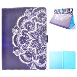Half Lace Mandala Flower Folio Flip Stand Leather Wallet Case for iPad Pro 9.7 2016 9.7 inch