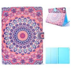 Orange Mandala Flower Folio Flip Stand Leather Wallet Case for iPad Pro 9.7 2016 9.7 inch