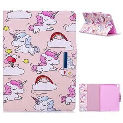 Cloud Unicorn Folio Flip Stand Leather Wallet Case for iPad Pro 9.7 2016 9.7 inch