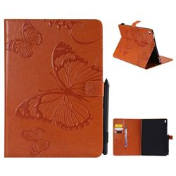 Embossing 3D Butterfly Leather Wallet Case for iPad Pro 9.7 2016 9.7 inch - Orange