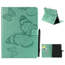 Embossing 3D Butterfly Leather Wallet Case for iPad Pro 9.7 2016 9.7 inch - Green
