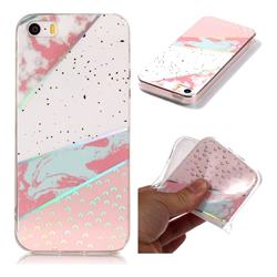 Matching Color Marble Pattern Bright Color Laser Soft TPU Case for iPhone SE2 (iPhone SE 2018)