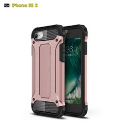 King Kong Armor Premium Shockproof Dual Layer Rugged Hard Cover for iPhone SE 2020 - Rose Gold