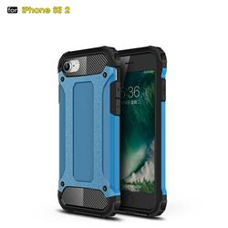 King Kong Armor Premium Shockproof Dual Layer Rugged Hard Cover for iPhone SE 2020 - Sky Blue