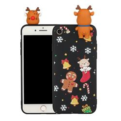 Gift Snow Christmas Xmax Soft 3D Doll Silicone Case for iPhone SE 2020