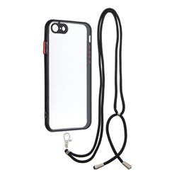 Necklace Cross-body Lanyard Strap Cord Phone Case Cover for iPhone SE 2020 - Black