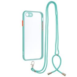 Necklace Cross-body Lanyard Strap Cord Phone Case Cover for iPhone SE 2020 - Blue
