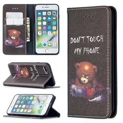 Chainsaw Bear Slim Magnetic Attraction Wallet Flip Cover for iPhone SE 2020